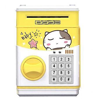צעצוע ילדים פיגי בנק אוטומטי סיסמא קופת ים קופת ים (צהוב)