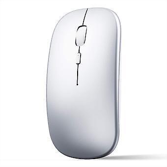ماوس لاسلكي قابل لإعادة الشحن للكمبيوتر المحمول ، فأر لاسلكي صغير نحيف بدون ضوضاء ، فئران 2.4g للمنزل / المكتب
