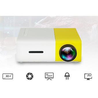 Led Mini Projektor S Hdmi kompatibilní Usb Přenosná domácí média.