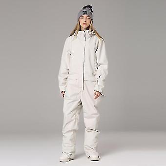 Women And Men Winter Warm Snow Jumpsuit Waterproof Skiing Jacket Pants Suit