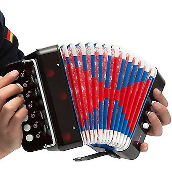 Black accordion bandoneon accoridan musical instruments for kids' beginners practice zf1224