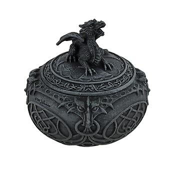Finition bronze Dragon bijou forme globulaire Box
