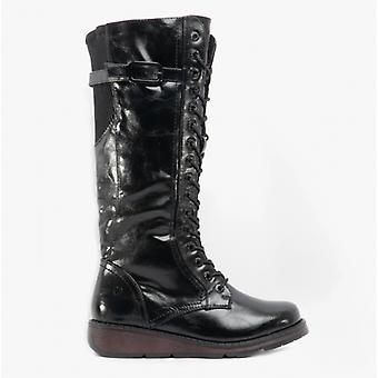 Heavenly Feet Solar Ladies Tall Boots Black