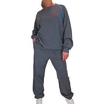 Juego de chándal de gran tamaño para mujer Damas 2 piezas Estirar sudadera holgada y joggers Loungewear Sweatsuit