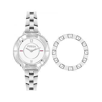 Furla argint inoxidabil din oțel inoxidabil R4253109503 ceas pentru femei