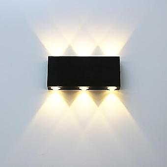Geborsteld zwart zilver dubbele kop wandlamp led up down wandlampen opzij gang woonkamer nachtkastje