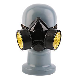 מסכת גז נשימתי בטיחותית לשעת חירום עם 2 מסנן הגנה כפול