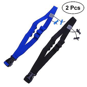 2pcs טריאתלון מרוץ מספר חגורת עיצוב רפלקטיבית מירוץ חגורה