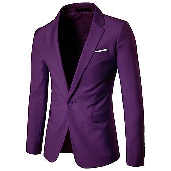 مايل الرجال دعوى سترة زر واحد سليم صالح الرياضة معطف الأعمال اليومية بليزر
