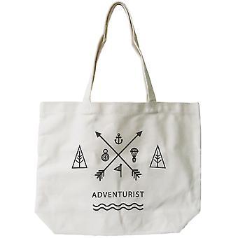 Reutilizável saco - único aventureiro Natural Canvas Tote saco de lona feminino