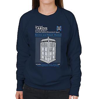 Doctor Who Tardis Service en reparatie handleiding vrouwen Sweatshirt