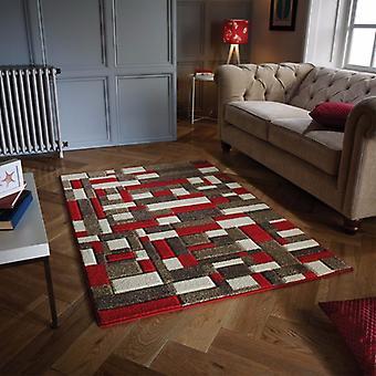 Portland 1098 R Rot Beige Läufer Teppiche moderne Teppiche