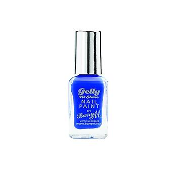 Barry M Gelly Hi Shine Nail Paint-damson