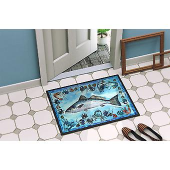 Fish Speckled Trout Indoor or Outdoor Mat 18x27 8086 Doormat