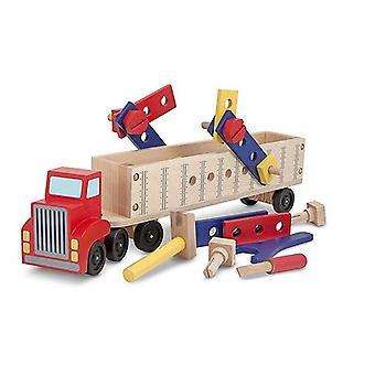 Melissa & Doug Wooden Big Rig Truck Building Set