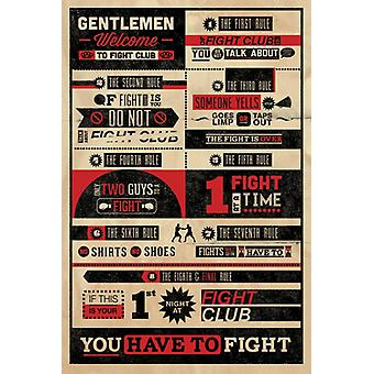 Fight Club Welcome Gentlemen Welcome Poster Poster Print