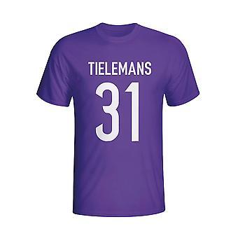 Youri Tielemans Anderlecht herói t-shirt (roxo)