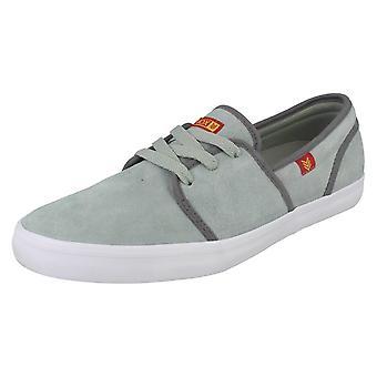Mens Vox Suede Casual Shoes Fisker - Mid Gray Suede - UK Size 8 - EU Size 42.5 - US Size 9