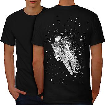 Space Dust Men BlackT-shirt Back | Wellcoda