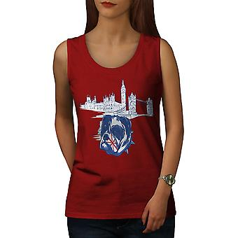 Pitbull England UK Dog Women RedTank Top | Wellcoda