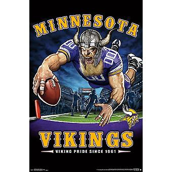 Minnesota Vikings - End Zone Poster Print