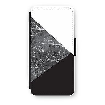 iPhone 5/5 s/SE Flip Case - Marmor-Kombination