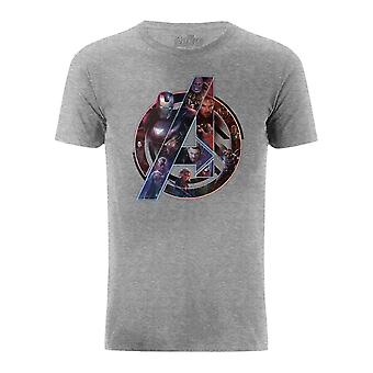 Avengers Infinity War Avengers Logo Characters Roster Silhouette T-Shirt
