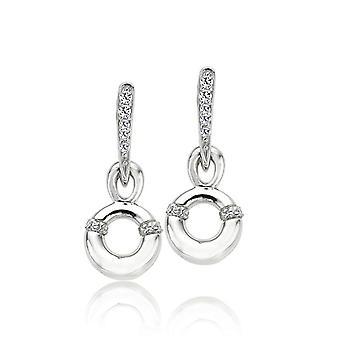 Orphelia Silver 925 Earring Circle Pendant Zirconium  ZO-5955