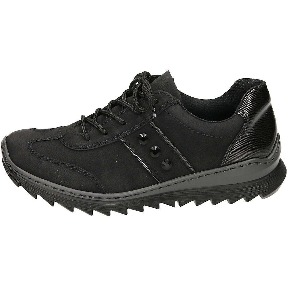 Rieker M6214-00 Black Lace Up Trainers Shoes