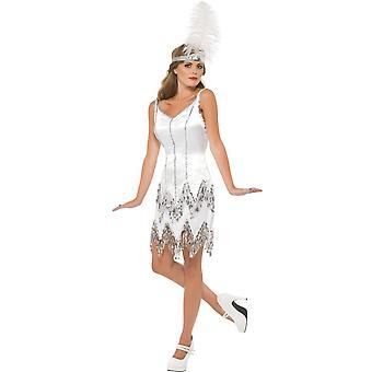 Vrouwen kostuums, Sexy charleston jurk wit
