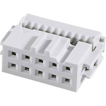 Espaçamento de contato de conector de pino FCI: número Total de 2,54 mm dos pinos: 10 n. º de linhas: 2 1 computador (es)