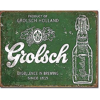 Grolsch пиво Excellence металлический знак