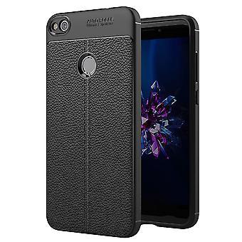 Funda de teléfono celular de Huawei P8 Lite 2017 marco cobertor negro bolsa