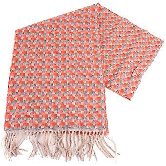 Bassin en bruin beste gevlochten kasjmier sjaal - rood/grijs