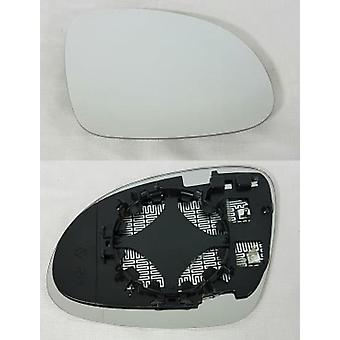 Høyre driver side speil glass (oppvarmet) & holder for SEAT ALHAMBRA 2010-2017