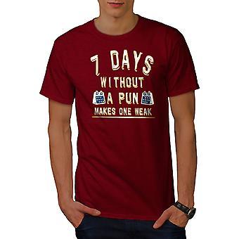 ファニープンカレンダー男性RedTシャツ|ウェルコダ