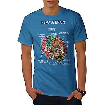 Cerebro femenino anatomía hombres real BlueT-camisa | Wellcoda