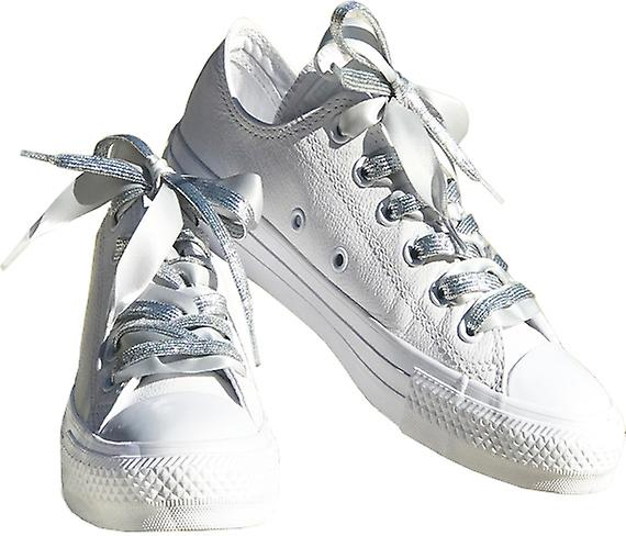Silver Glitter and Grey Satin Lace Set Laces