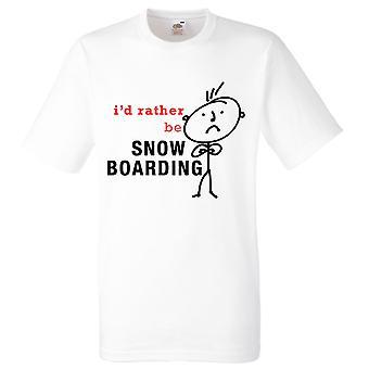 Raczej byłoby mężczyzn śnieg na pokład biały Tshirt