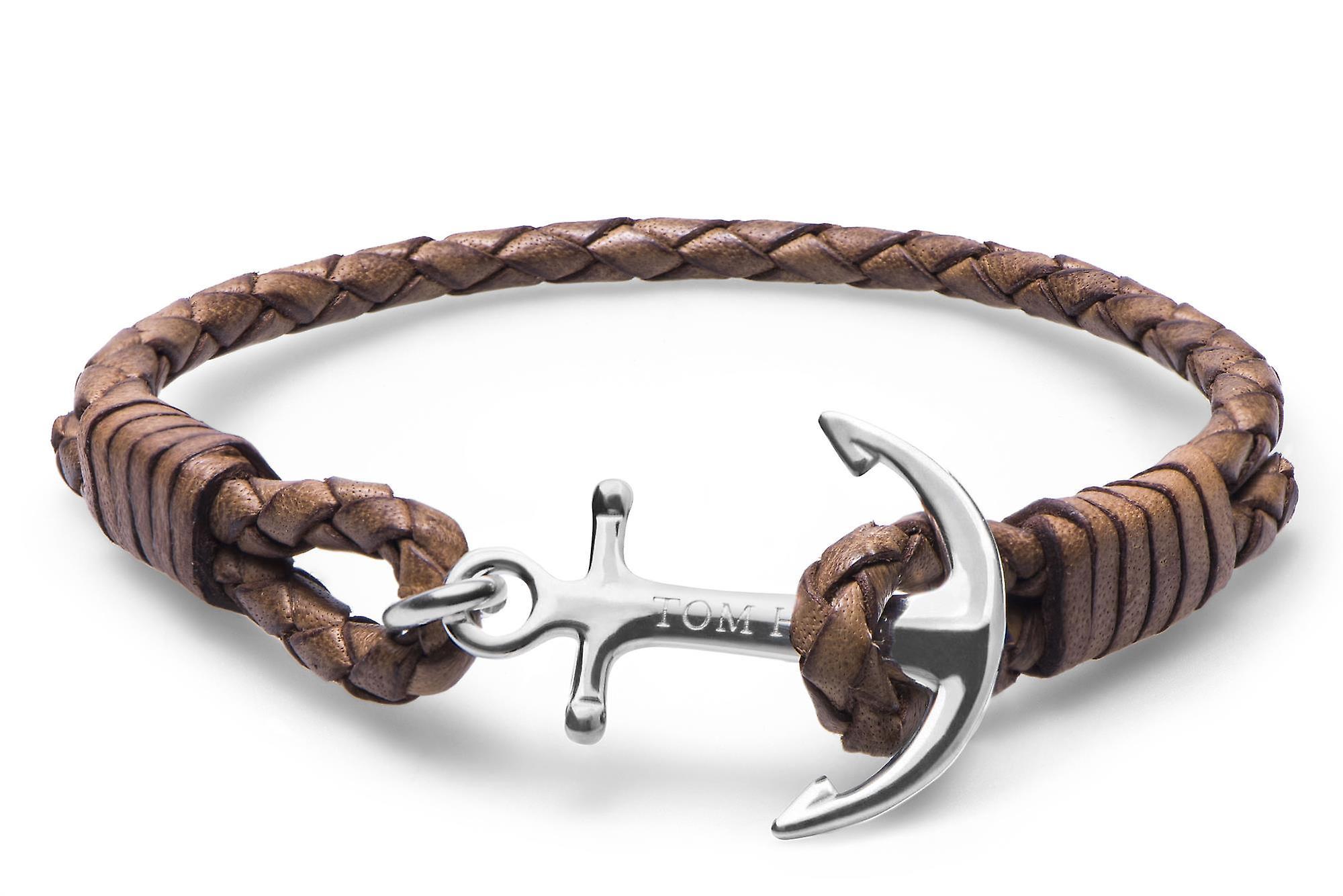 Tom Hope Cognac Brown Sterling Silver Bracelet Small TM0220