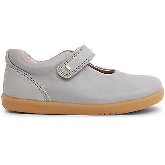 Bobux-Spaziergang Mädchen Freude Schuhe Silbrig schimmernd