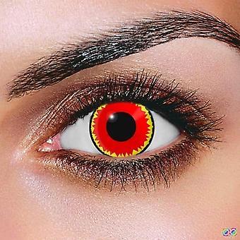 Röd vampyr kontaktlinser (par)