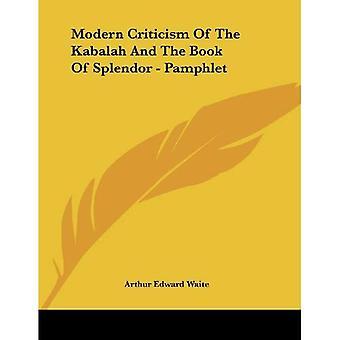 Crítica moderna de la Kabalah y el libro del esplendor
