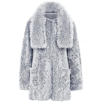 Dom Goor Shearling Reversible Tabard Coat