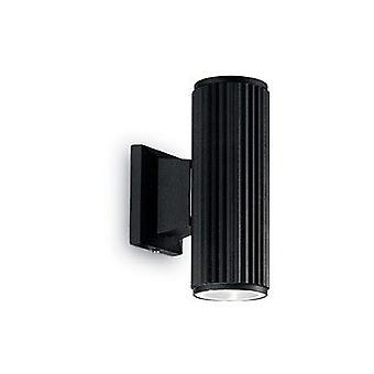 Ideal Lux - Base schwarze Wand Licht IDL129433