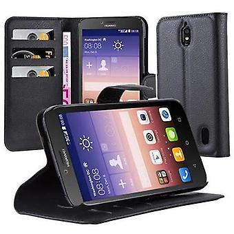 Cadorabo sag for Huawei ASCEND Y625 sag dækning - telefon sag med magnetisk lås, stå funktion og kort rum - Case Cover Beskyttende sag Book Folding Style