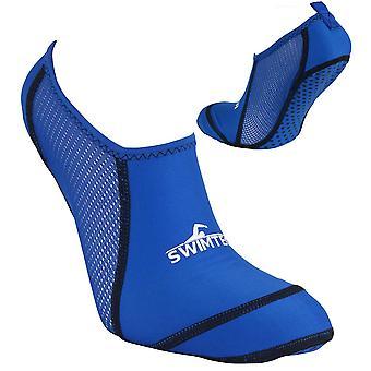SwimTech Anti Slip Kids Boys Anti Verruca Pool Swimming Water Sock Blue