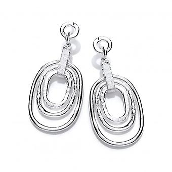 Cavendish French Silver Bold Triple Oval Earrings