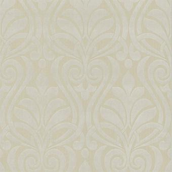 Damask Wallpaper Textured Modern Paste The Wall Faint Gold White