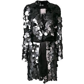 Romeo Gigli X Eier Egw18409 Frauen's schwarze Seide Blazer